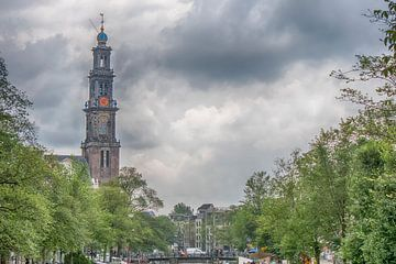 Zicht op de Westertoren Amsterdam van Peter Bartelings Photography