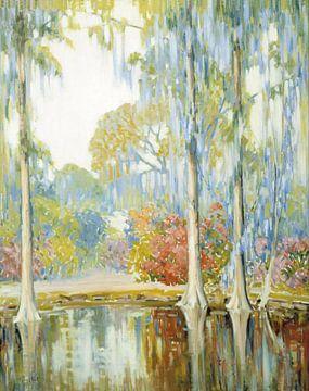 Alfred Hutty-Magnolia-Gärten.