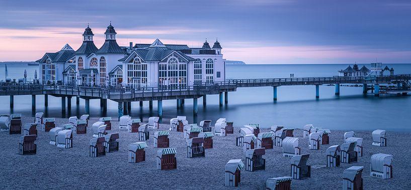 Sellin Pier, Rügen, Duitsland van Henk Meijer Photography