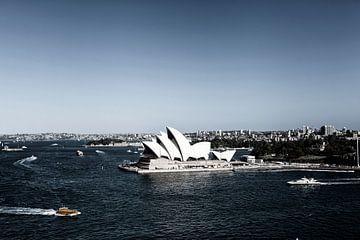 De skyline van Sydney met het Opera House van Tjeerd Kruse