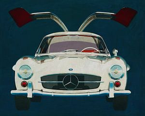 Mercedes 300SL Gullwings 1964 deuren openen