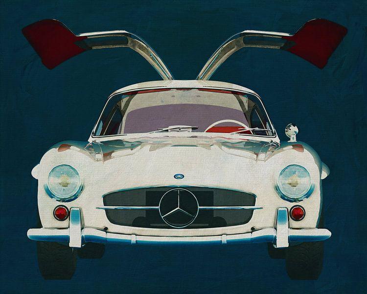 Mercedes 300SL Gullwings 1964 deuren openen van Jan Keteleer