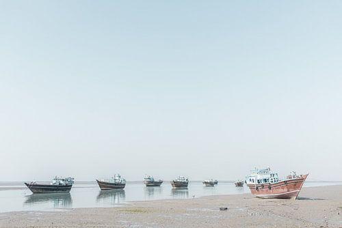 Vissersboten aan de kust in de Perzische Golf | Iran