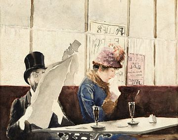 Szene in einem Kaffeehaus - Rodolfo Amoedo, 1890-1930