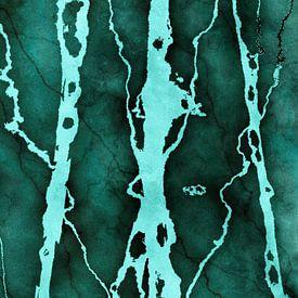 MARBLED QUETZAL GREEN v3 van Pia Schneider