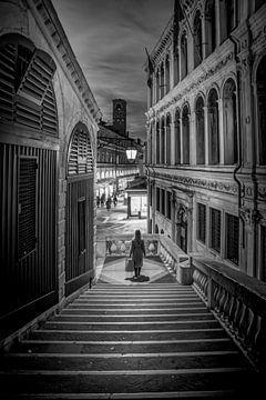 Venetië zwart-wit van Iman Azizi