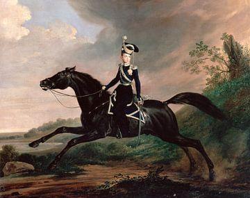 Portrait équestre du Grand Prince Alexandre Nikolaïevitch, Franz Krüger