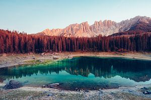 Lago di Carezza, Dolomiten von Tijmen Hobbel