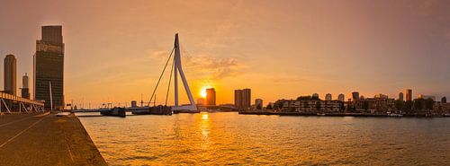 Panorama Erasmusbrug Rotterdam von Ronald Dijksma