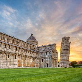 Kathedraal en Scheve Toren van Pisa van Michael Valjak