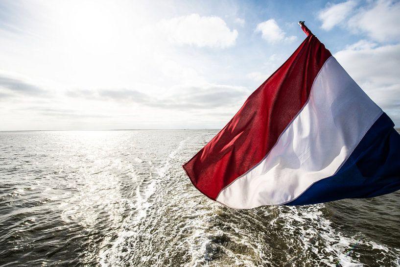 Nederlandse vlag op schip. van Brian Morgan