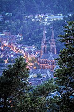 Blauw uur in de Elisabethkerk in Marburg an der Lahn van Jürgen Schmittdiel Photography