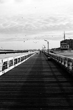 Der Pier von Nieuwpoort von Eline Willekens