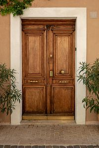 Houten deur in Cassis van