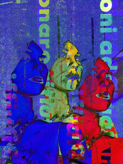Colorful heads van Gabi Hampe