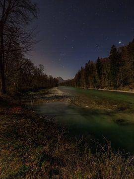 Volle maan in Berchtesgadener Land van Thomas Weber