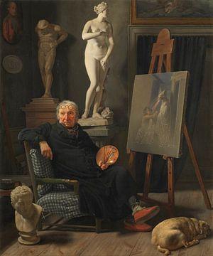Portrait du peintre Christian August Lorentzen, Martinus Rørbye sur