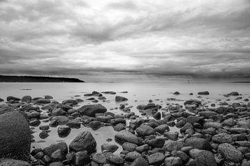 Pierres naturelles sur la plage de l'île de Vancouver sur Emile Kaihatu