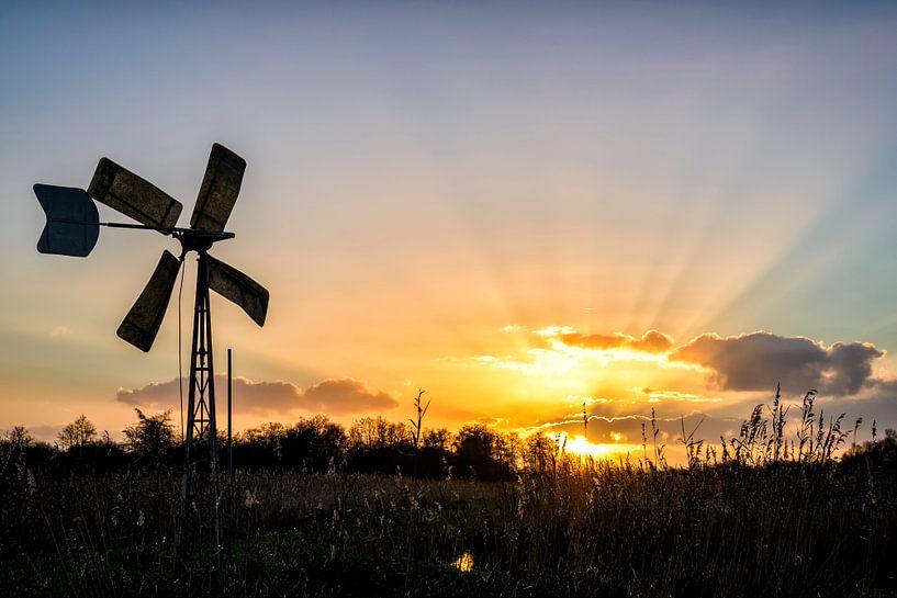 Weerribben zonsondergang van Sjoerd van der Wal