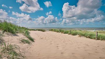 Strandeingang zum Nordseestrand von eric van der eijk