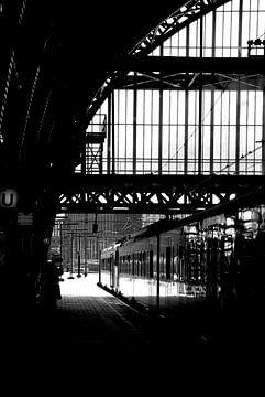 Amsterdam centraal station van Carolina Vergoossen
