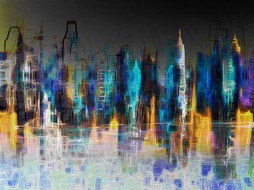 1. Paysage urbain, Manhattan, NY. sur Alies werk