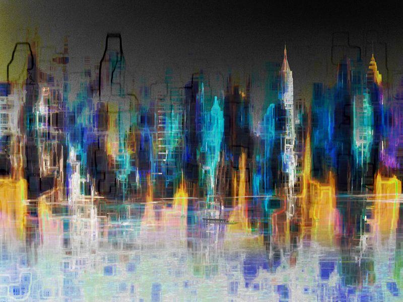 1. Stadtlandschaft, Manhattan, NY. von Alies werk