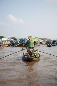 Drijvende markt in de Mekongdelta (Vietnam) van t.ART