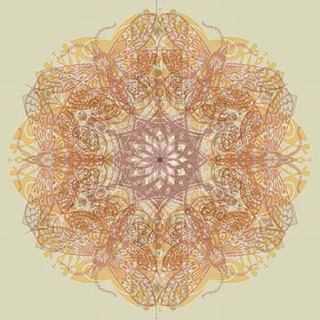 Kaleidoskop, violett von Rietje Bulthuis