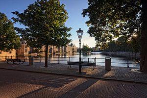 stadsgezicht van de Korte Vijverberg in Den Haag