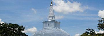 Ruwanwelisaya tempel nabij Anuradhapura van Marilyn Bakker