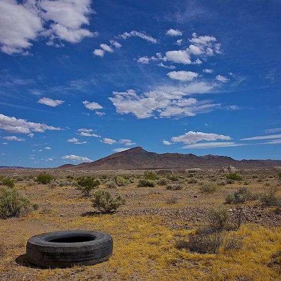 Autoband langs Route 66 van Gerard Oonk