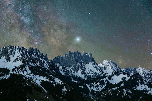 Gastlosen Berge mit dem Milchstrassen Zentrum