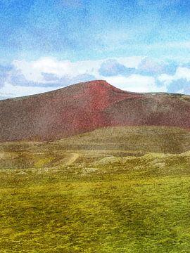 De kleuren van Laki, IJsland van