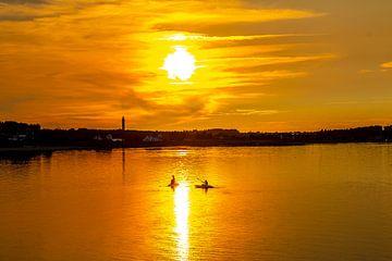 Sunset on Amrum van Alexander Wolff