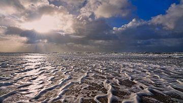 Storm boven de Noordzee van