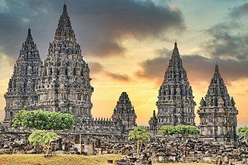 Prambanan, Hindu Tempel van Eduard Lamping