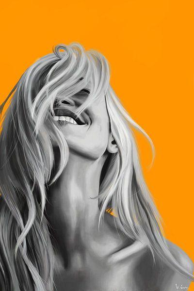 Oranje Lach van Kim Verhoef