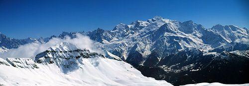 Désert de Platé et chaîne du Mont-Blanc sur