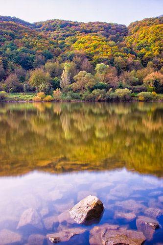 De moezel in herfstkleuren van