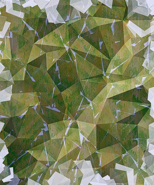 Orde in chaos, geometrisch patroon van Rietje Bulthuis