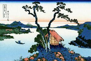 Het Suwa Meer in Shinano, Japan - Katsushika Hokusai