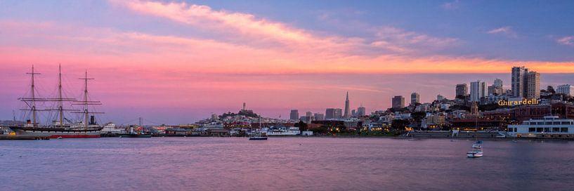 San Francisco zonsondergang van Jasper den Boer