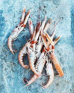 SF12478080 Nature morte des crevettes de mer fraîches sur BeeldigBeeld Food & Lifestyle