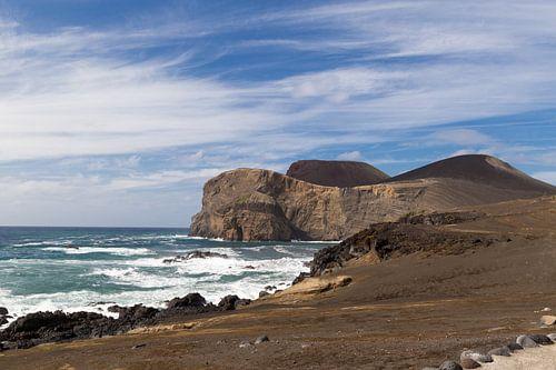 Vulkaan op het eiland Faial, Azoren, Portugal van