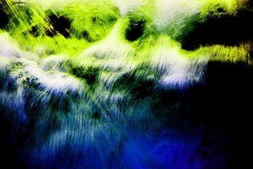 Abstracte wilde wateren van Gerrit Neuteboom
