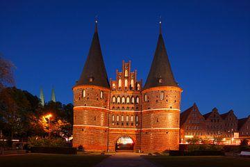 Holstentor, Lübeck, Sleeswijk-Holstein, Duitsland, Europa van Torsten Krüger