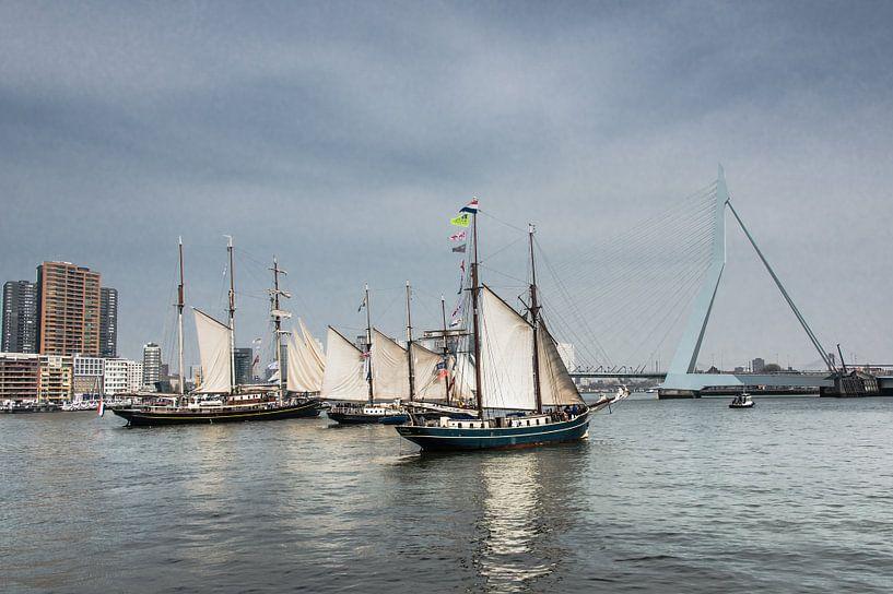 Zeilschepen in Rotterdam van Harrie Muis