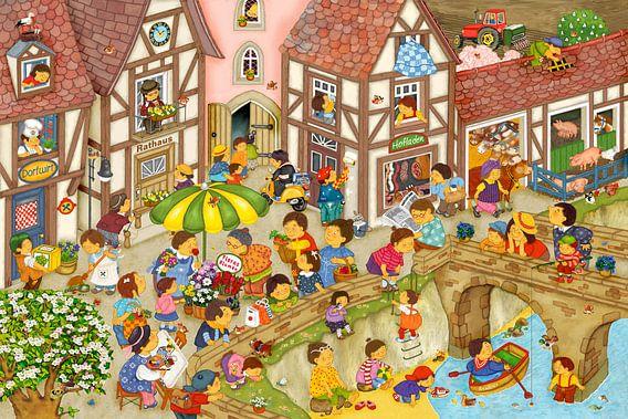 Mein Dorf im Frühling von Marion Krätschmer