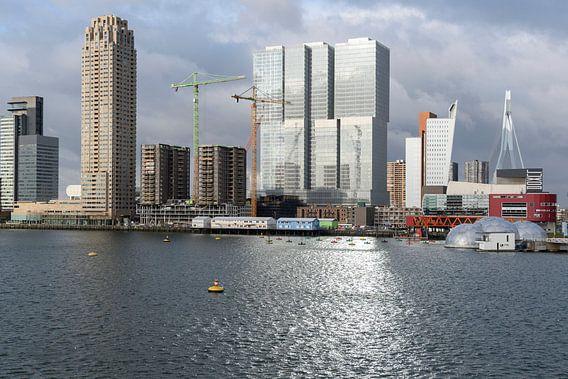Wilhelminapier aan de Rijnhaven in Rotterdam van Rick Keus